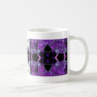 El volar a través del universo taza de café