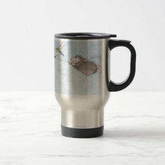 El volar adentro a decir taza de café