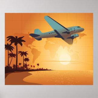 El volar al paraíso - diversos tamaños disponibles póster