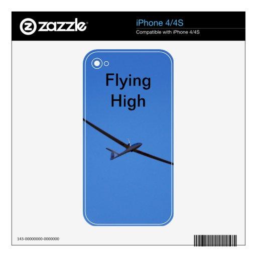 El volar arriba calcomanías para el iPhone 4