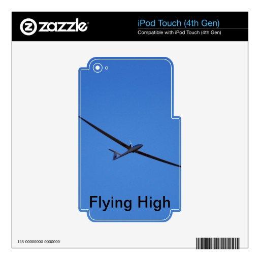 El volar arriba calcomanías para iPod touch 4G
