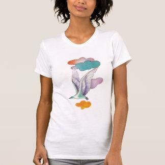 El volar arriba camiseta
