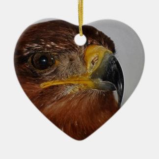 El volar arriba hasta mí puedo tocar el cielo adorno navideño de cerámica en forma de corazón