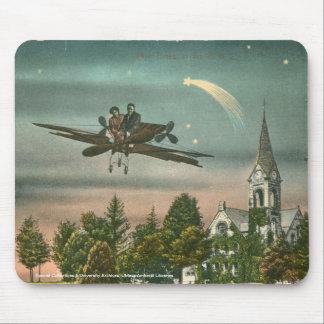 El volar arriba sobre capilla vieja alfombrilla de raton