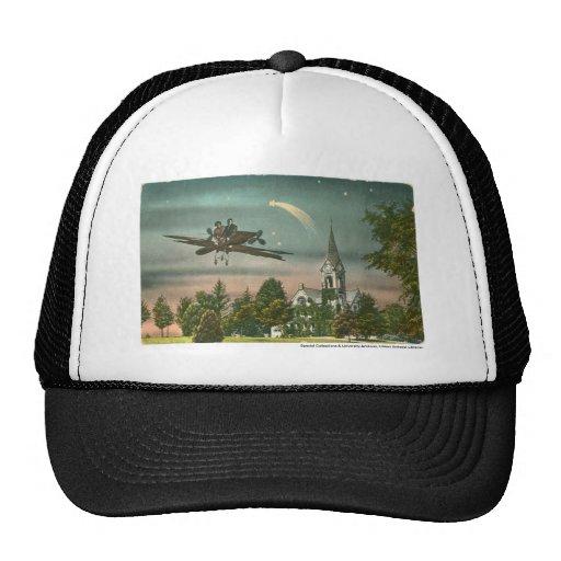 El volar arriba sobre capilla vieja gorras de camionero