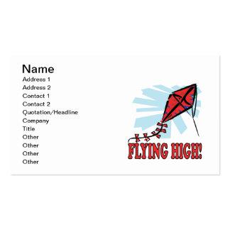 El volar arriba tarjetas de visita