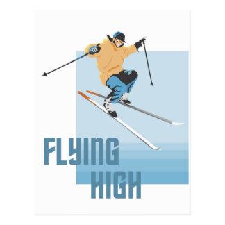 El volar arriba tarjeta postal