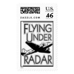 el volar bajo logotipo del radar sello