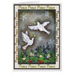 El volar blanco de las palomas de la paz felicitacion