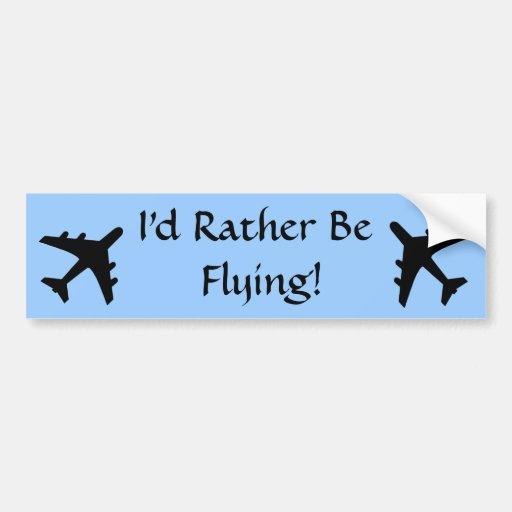 El volar etiqueta de parachoque