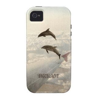 El volar con los delfínes vibe iPhone 4 fundas
