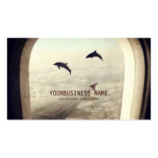 El volar con los delfínes plantillas de tarjetas personales