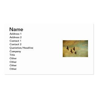 El volar de cuatro cuervos tarjetas de visita