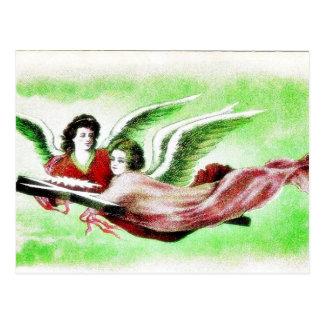 El volar de dos anges postales