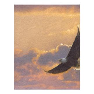 El volar de Eagle calvo Membrete Personalizado