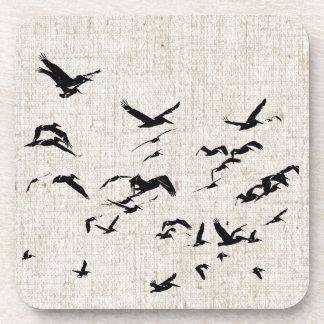 El volar de los pelícanos posavasos