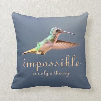 El volar del colibrí imposible es solamente una te almohada
