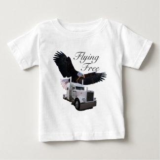 El volar libremente playera de bebé