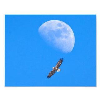 El volar más allá de la luna fotografía