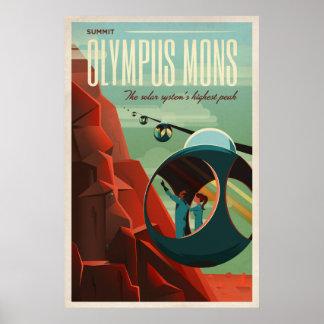 El VOLCÁN de MARTE - el espacio el | de Olympus Póster