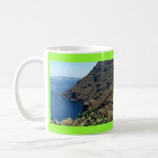 El volcán de Santorini Taza
