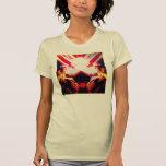 """El """"volcán entra en erupción"""" el top del arte de camiseta"""