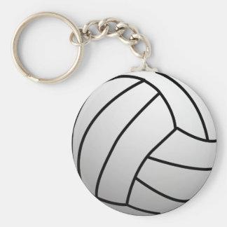 El voleibol de encargo se divierte el producto llavero redondo tipo pin