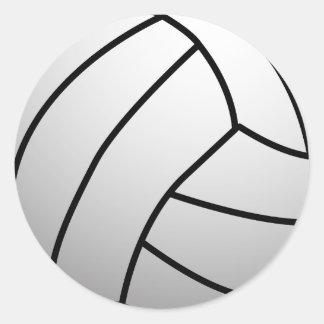 El voleibol de encargo se divierte el producto pegatina redonda