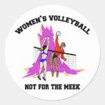 El voleibol de las mujeres etiqueta