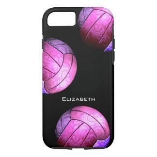 el voleibol de las mujeres púrpuras de las rosas funda iPhone 7