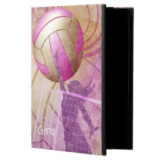 El voleibol de las mujeres rosadas púrpuras
