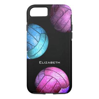 el voleibol de las mujeres rosadas púrpuras de los funda iPhone 7