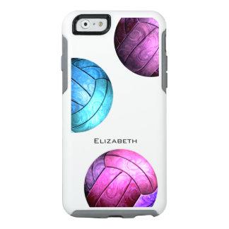 el voleibol de las mujeres rosadas púrpuras de los funda otterbox para iPhone 6/6s