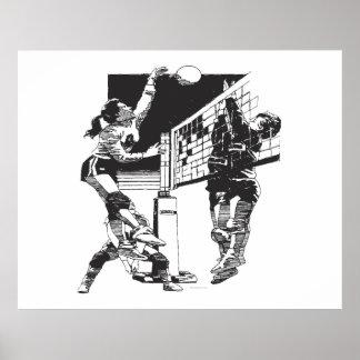 El voleibol de las primeras mujeres póster