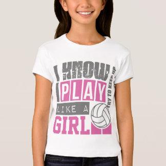 el voleibol del juego tiene gusto de un chica playera
