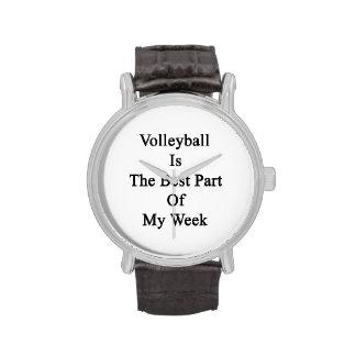 El voleibol es la mejor parte de mi semana relojes de mano