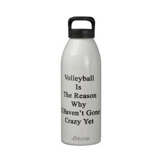 El voleibol es la razón por la que no he ido loco botella de agua