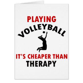 el voleibol es más barato tarjeta de felicitación