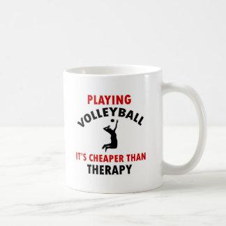 el voleibol es más barato taza básica blanca