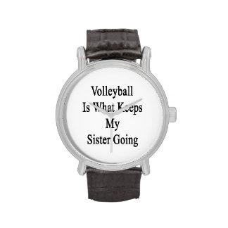 El voleibol es qué guarda mi ir de la hermana