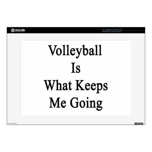 El voleibol es qué me guarda el ir 38,1cm portátil calcomanías