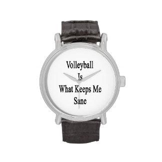 El voleibol es qué me mantiene sano relojes