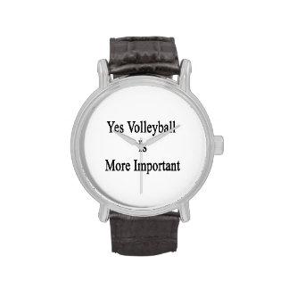 El voleibol es sí más importante relojes de pulsera