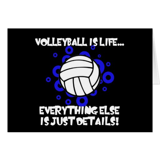 El voleibol es vida… tarjeta de felicitación