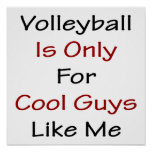 El voleibol está solamente para los individuos fre poster