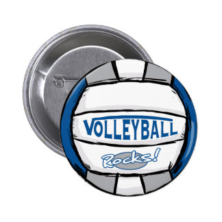 El voleibol oscila el azul y la plata pins