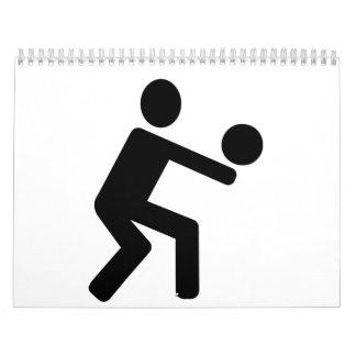 El voleibol se divierte al jugador calendario
