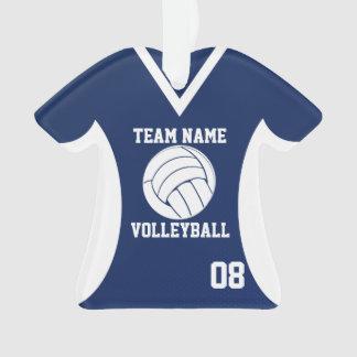 El voleibol se divierte el azul del jersey con la