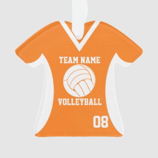 El voleibol se divierte el naranja del jersey con