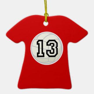 El voleibol se divierte personalizado del número 1 adornos